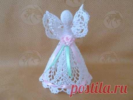 Crochet Angel by MADinUA on Etsy   Anioły   Ангел, Вязаные Крючком Ангелы и Магазин Etsy