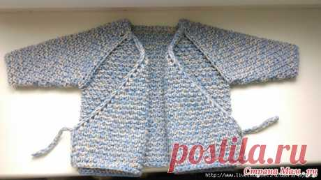 Knitted jacket baby's undershirt (solution 56-62).