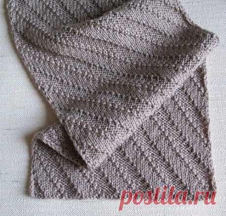 Стильный мужской шарф из категории Интересные идеи – Вязаные идеи, идеи для вязания