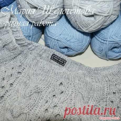 Укороченный серый пуловер - Вязание - Страна Мам