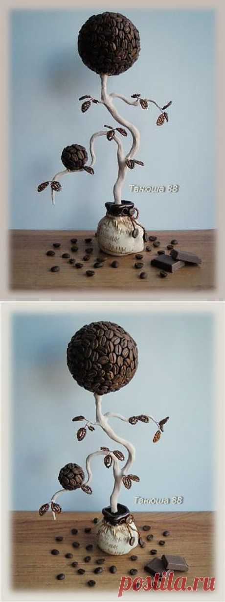 Топиарий или Кофейное дерево | biser.info - всё о бисере и бисерном творчестве