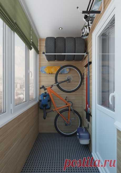 Как красиво и функционально хранить вещи на балконе, а не превращать его в хламовник