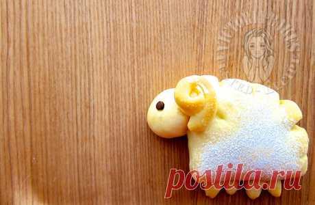 маленькая овечка шоколадная крошка булочка 小ั ั ั – Виктория печет