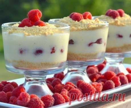 Малиновый чизкейк-парфе без выпечки — Sloosh – кулинарные рецепты