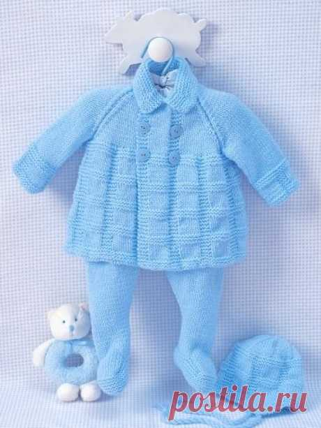 (136) Pram Set to Knit | Yarn | Free Knitting Patterns | Crochet Patterns | Yarnspirations | Crochet baby sweaters