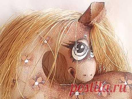 Текстильная лошадка - символ 2014 года - Ярмарка Мастеров - ручная работа, handmade