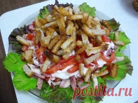 Этот сытный, красивый, мясной салат займет почётное место в списке ваших любимых блюд