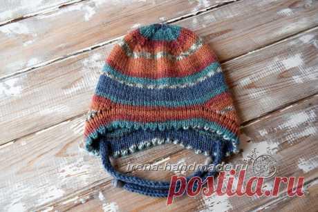 Двойная шапка с ушками (вязание, схемы и фото) - Irena Handmade