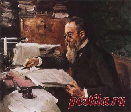Портрет композитора Н.А.Римского-Корсакова. 1898      Валентин Александрович Серов (1865-1911). Часть 1: vakin