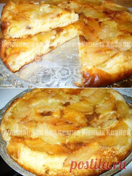 Творожно-яблочный пирог «Лакомка»