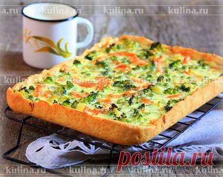 Пирог с форелью и брокколи – рецепт приготовления с фото от Kulina.Ru