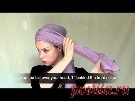 Как оригинально завязывать платок, шарф, палантин на голову: видео | Самый женский сайт