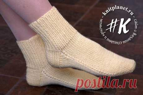 The planet of Knitting | Socks on two spokes without seam. Easy way. A photo and video a master class in knitting from Olga Bogan