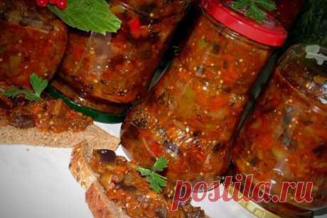 #Салат из баклажанов без уксуса   Очень вкусный салат, по вкусу напоминает кабачки с грибами и очень хорошо хранится зимой, хотя готовится без уксуса.   Для приготовления понадобится:  Показать полностью…