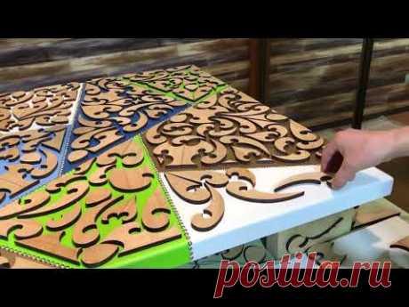Kitchen Table made of Wood and Epoxy. Кухонный Стол из Дерева и Эпоксидной Смолы.