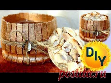 Шкатулка из прищепок своими руками на канале DIY/рукоделие