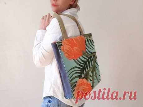 Мастер-класс: Шьем простую сумку-шоппер с подкладкой   Журнал Ярмарки Мастеров