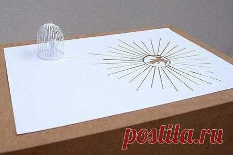 Скульптуры из одного листа бумаги