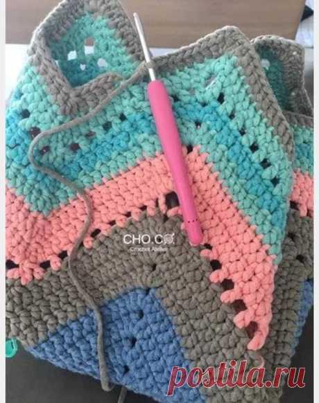 Модная летняя сумка крючком . - Волшебная филеечка-оригинальное вязание крючком.