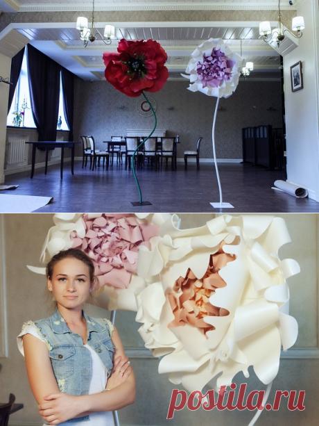 Мастер-класс «Гигантские цветы» . день 1. « Блог Флориста, Кемерово, цветы, букеты, композиции, коллажи, уроки