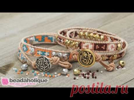How to Make the Mosaic Double Wrapped Loom Bracelet Kits by Beadaholique