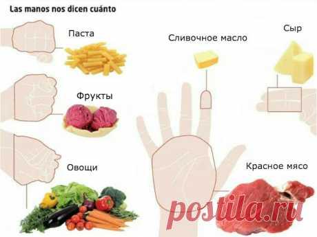 Объяснение на пальцах: Сколько еды нужно съедать каждый день! Проще простого!