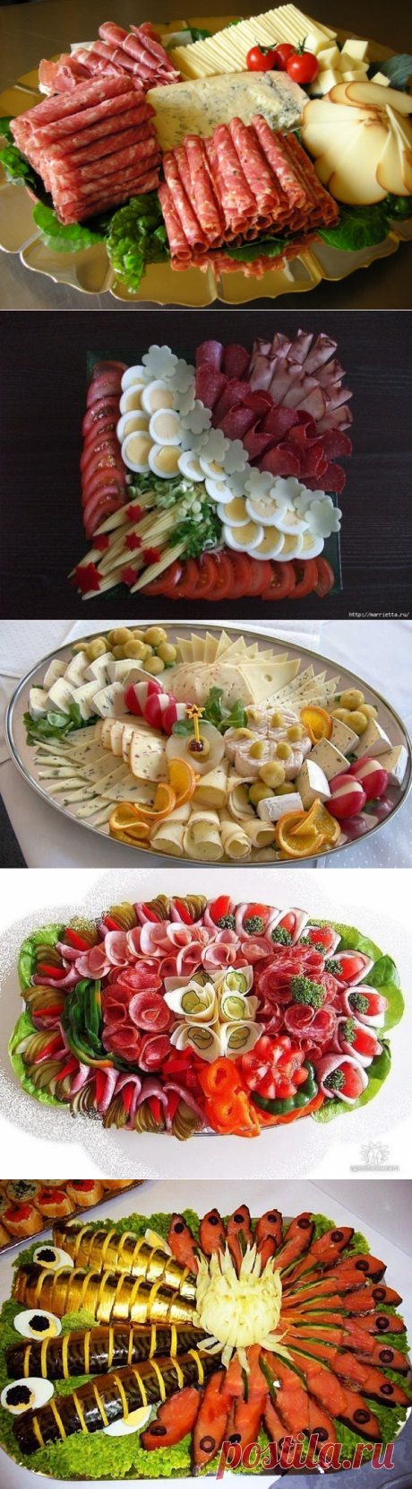 Ideas of cutting for a holiday table.