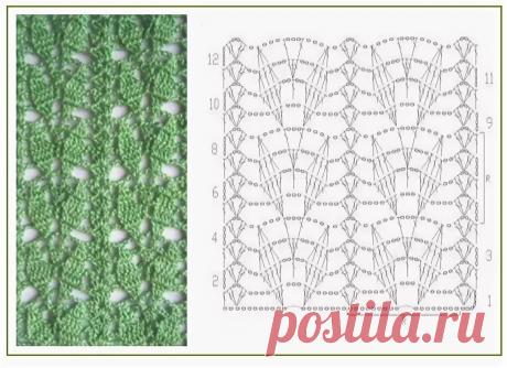Узоры крючком с листьями со схемами (подборка)   38 рукоделок   Яндекс Дзен