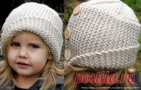 Детская шапочка с отворотом — HandMade