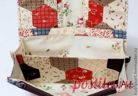 Текстильный кошелек своими руками