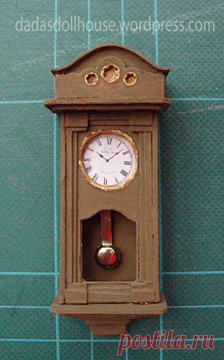 Часы на стене | кукольный домик Dada в