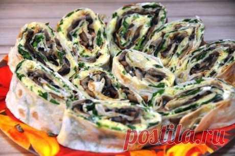 Очень вкусно.Рулет из лаваша с баклажанами. | Кухня оригинальных блюд | Яндекс Дзен