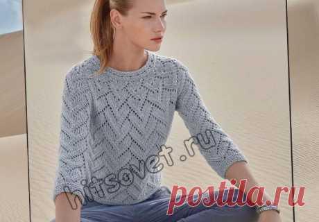 Пуловер одним полотном - Хитсовет