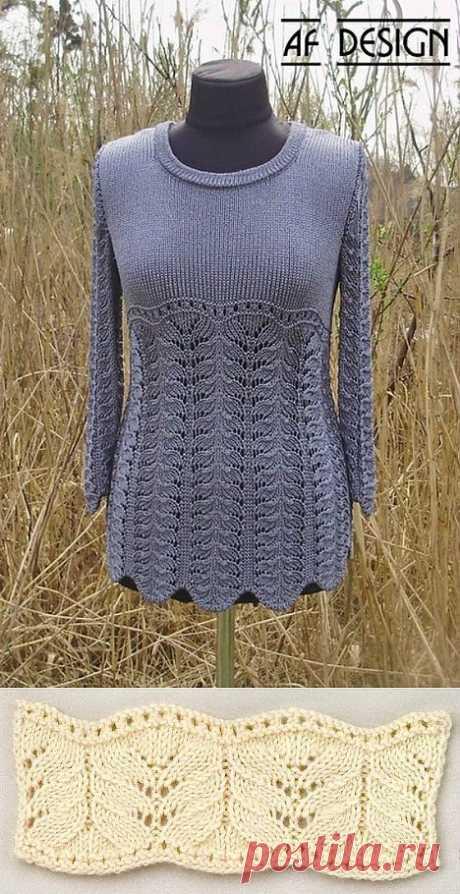 пуловер(подбор узора).