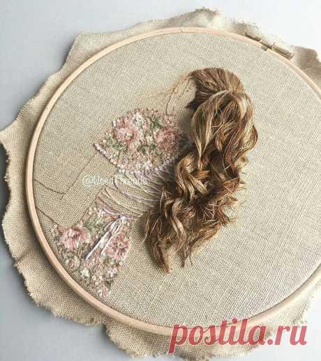 Вышивки с объемными волосами: новые идеи — DIYIdeas