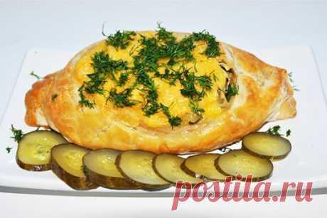 Лодочки с картофелем, мясом и огурцом ⋆ Хозяюшка