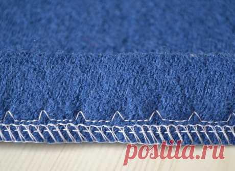 Подшивка низа потайной строчкой на швейной машинке
