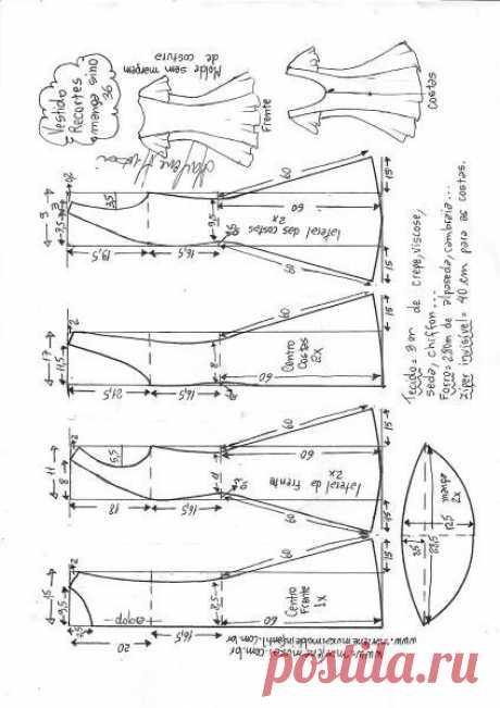 Выкройка женского платье с открытой спиной (Шитье и крой) — Журнал Вдохновение Рукодельницы