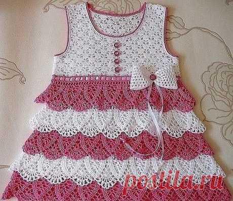 Милое платьице для девочки из категории Интересные идеи – Вязаные идеи, идеи для вязания