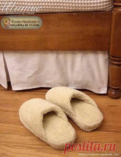 Шьем теплые и мягкие спа-тапочки из махрового полотенца — DIYIdeas
