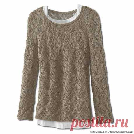 Pullover with a beautiful pattern.
