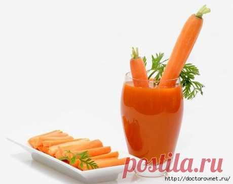 Морковная ботва очистит кишечник.