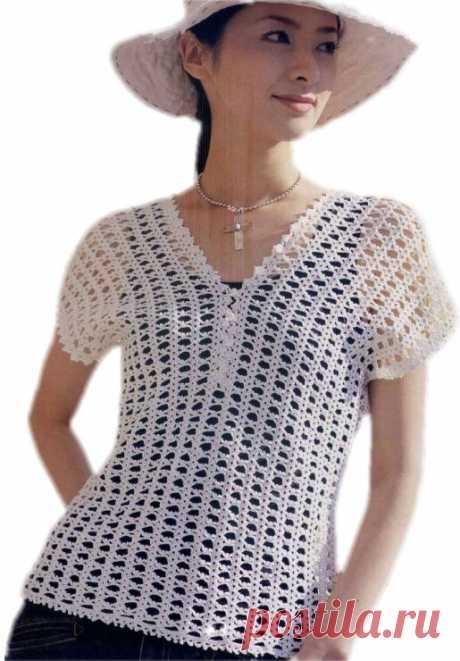Простые модели для лета Выбираю летние модели для вязания. Всего, что попадается интересного, конечно, не свяжу и решила поделиться с вами идеями. Сначала я, наверное, свяжу эту простую кофточку (листайте галерею, там есть схемы вязания): кофточка крючком