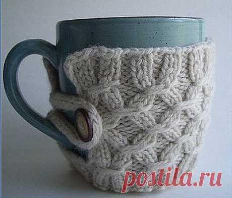 Грелка на чашку - отличный новогодний подарок! И много красивых идей.