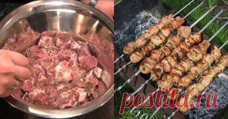 Тесть-грузин научил правильно мариновать шашлык: спасет даже самое жесткое мясо!                                Уже апрель, а это значит, что уже пора открывать сезон пикников и, конечно же, шашлыка.  Это блюдо просто невозможно не любить, особенно если вы умеете  приготовить его …