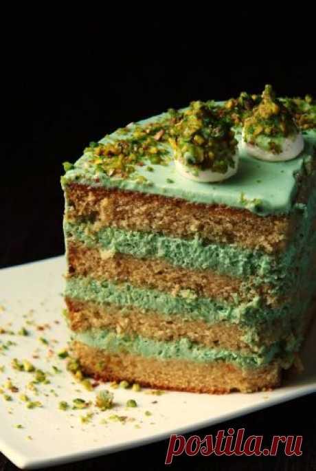 Фисташковый торт с жасминовым чаем - Блог настоящей тёщи