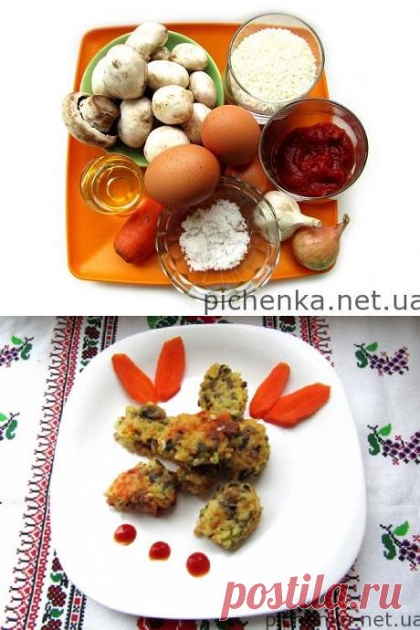 Рисовые котлеты с шампиньонами    Вкусные рецепты