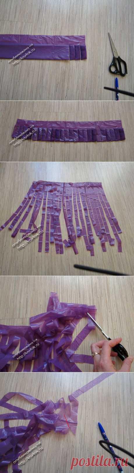 Как сделать пряжу из пакетов и футболок - вязание крючком на kru4ok.ru