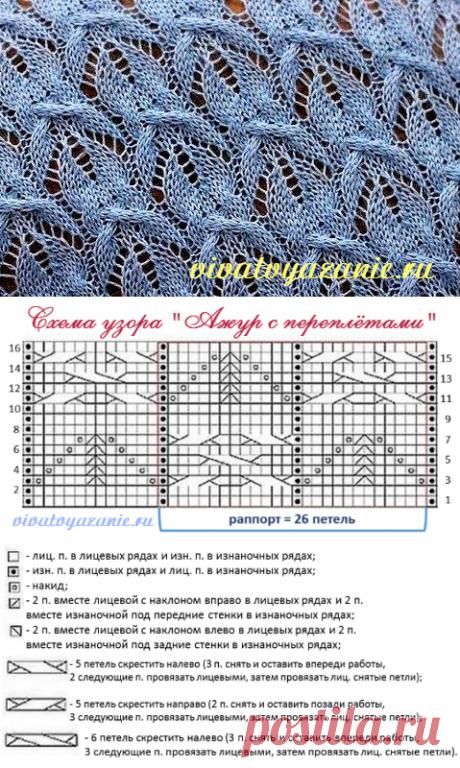 Объёмный ажурный узор спицами: подробное описание и схема
