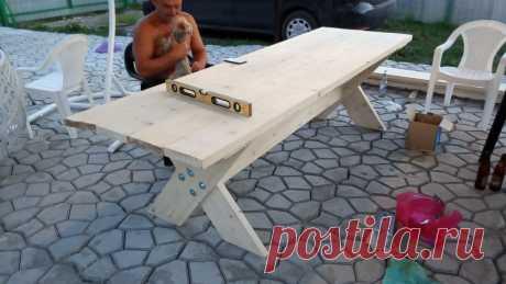 Мощный стол для дачи своими руками   Рукастый мужик   Яндекс Дзен